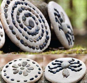 Salteig mit Steinen