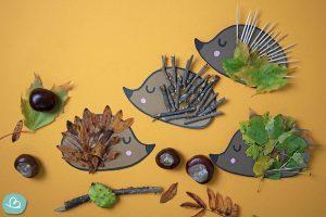 Wunderbunt.de Igel aus Naturmaterialien basteln